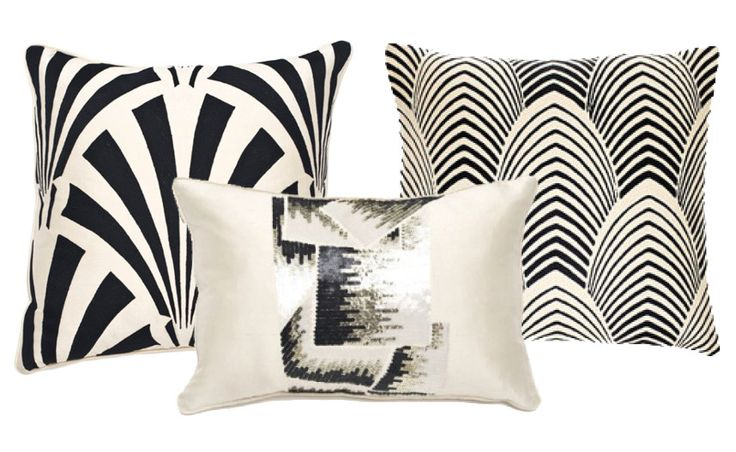 Art Deco Pillows inspired by 1920's decor