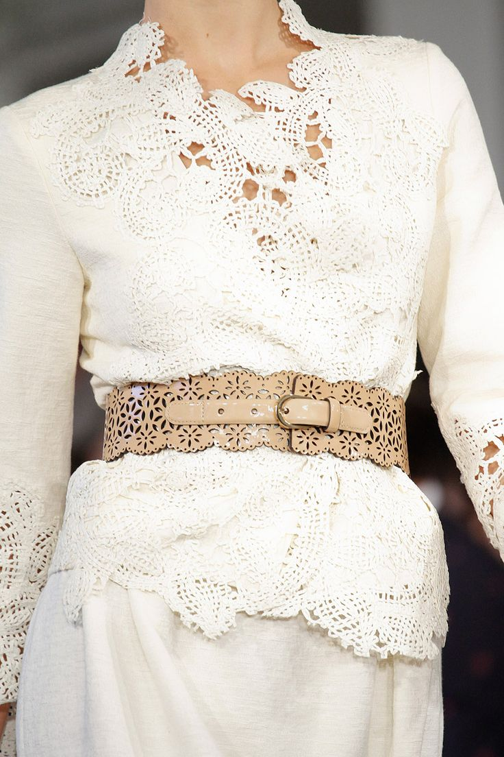 Ivory wrap top of a textural knit given beauty via for Cinched waist wedding dress