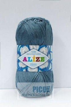 Poze Fir de tricotat sau crosetat - Fir BUMBAC 100% ALIZE BLEO-GRI 498
