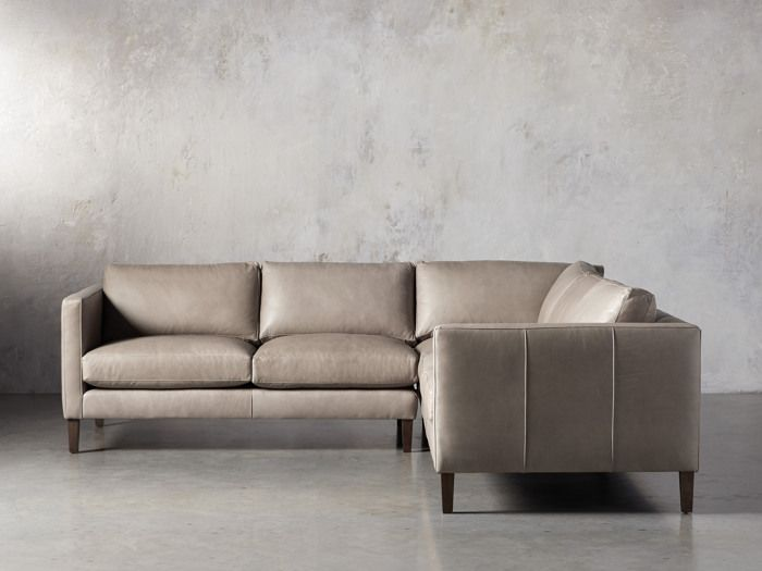 View the Radford Leather Two Piece Sectional | Leather ...