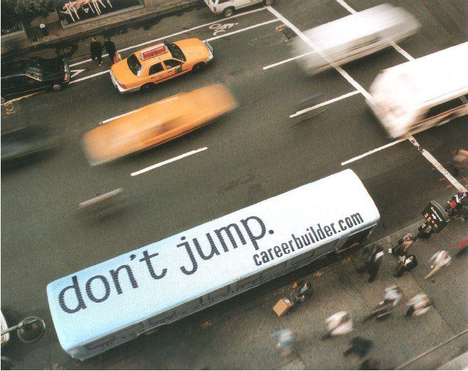 bus advertisement.   brilliant.
