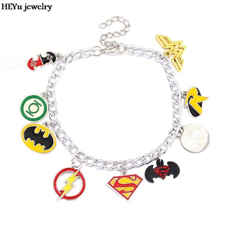 Justice league Charm Bracelet // 9.95 & FREE Shipping    #freeshipping, #marvel, #dccomics, #marvelcomics, #marvelanddc, #marvel&dc, #superheroes, #superheroeshub, #bestdeal, #sales, #greatdeals, #cheap, #affordable