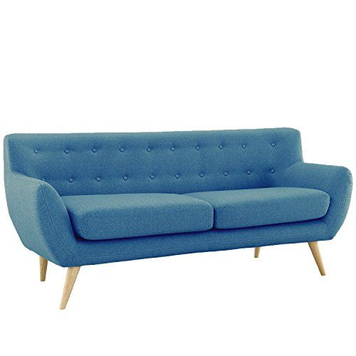 Best Mid Century Modern Linen Fabric Sofa Loveseat In Colors 400 x 300