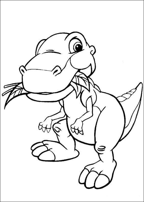 Coloriage Dessins. Le Petit Dinosaure 3