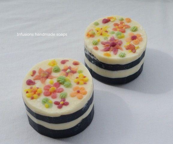 soap flower cake