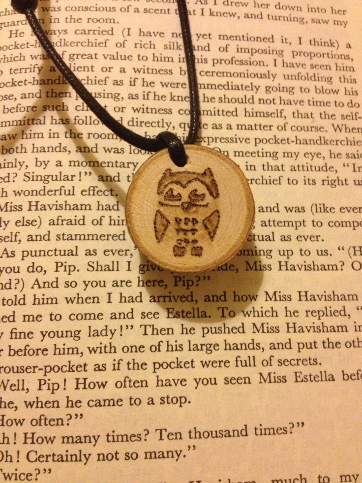 Unique Woodburned Whimsical Owl Pendant by FireWoodCrafts on Etsy, €9.00