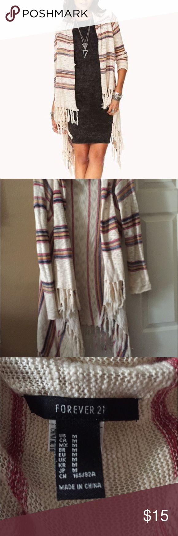 """Forever 21 long striped cardigan Cute striped cardigan 🌷🌷""""no reasonable offer refused """"✨✨ Forever 21 Sweaters Cardigans"""