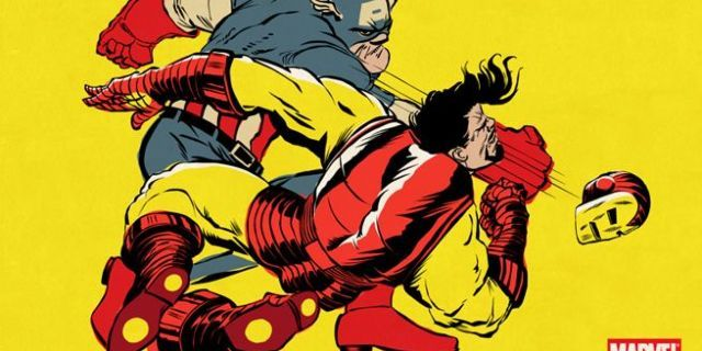 Marvel's Civil War storyline done in the style of The Dark Knight Returns