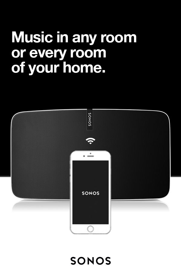 Bring music home. The Sonos Home Sound System plays all the music on Earth in any (or every) room of your house. From the compact PLAY:1 to the powerhouse PLAY:5 and even home theater. Your home will thank you.