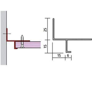 15 x 15 Shadow Gap Plasterboard Trim x 3000mm£7.64
