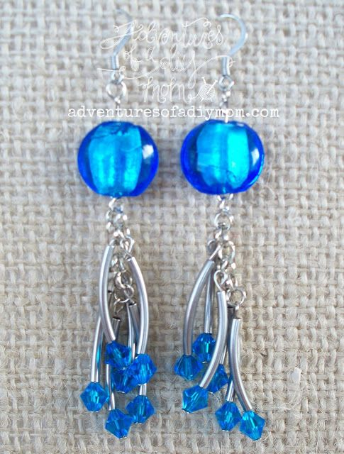 Adventures of a DIY Mom - Sapphire Dangle Earrings