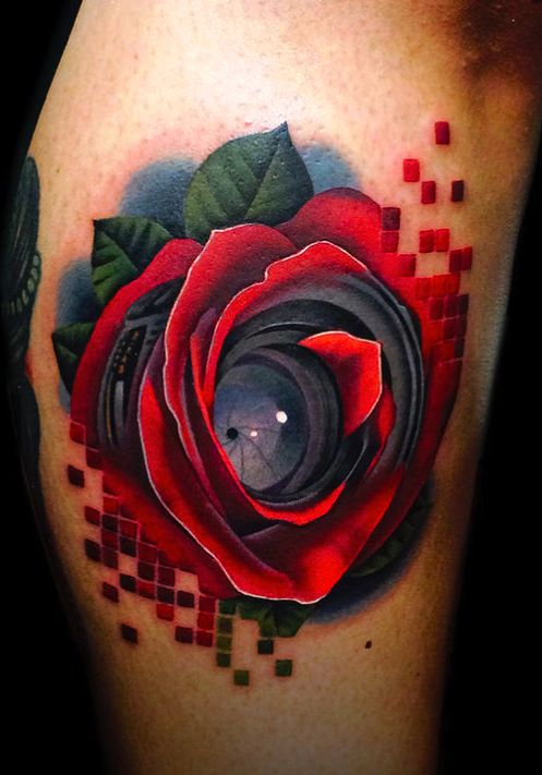 Rose into a camera for all those tattooed film makers