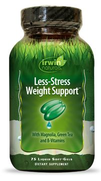 Less-Stress Weight Support®* is specially designed for over-worked, over-stressed and over-weight individuals. Please visit IrwinNaturals.com for more information about this product.