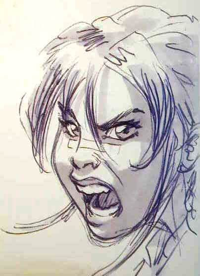 angry anime face drawing - photo #16