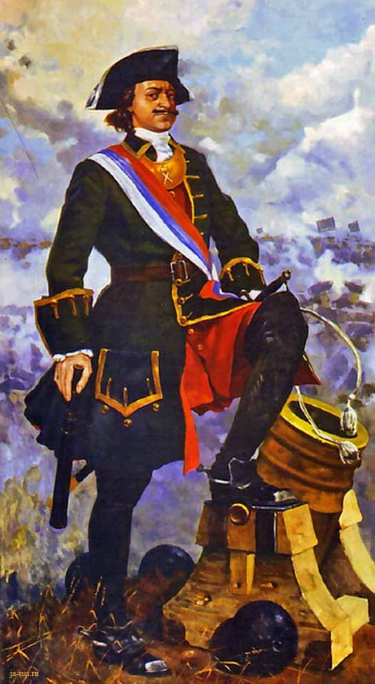 Tsar Peter the Great manning a mortar
