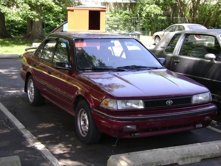 Toyota Corolla - Sétima geração (1991). Confira notícias sobre o mundo automotivo: https://www.consorciodeautomoveis.com.br/informacoes-consorcio-automoveis?utm_source=Pinterest