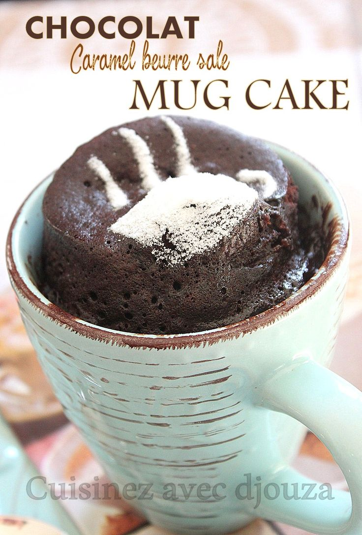 Mug Cake sans chocolat (cacao) et sans beurre facile