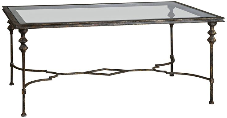 Uttermost Quillon Forged Iron Coffee Table