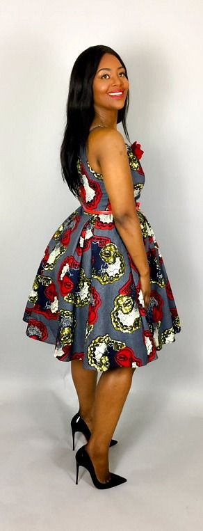 Vintage style dresses like this will make you look sweet and classy. NEW IN African clothing,vintage dress,cocktail dress,knee length dress,hand made ,women clothing. Kitenge | Dashiki | African print dress | African fashion | African women dresses | African prints | Nigerian style | Ghanaian fashion | Senegal fashion | Kenya fashion | Nigerian fashion | cute summer dress (affiliate)