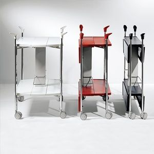 Carrello portavivande multifunzioni richiudibile in soli 15 cm ripiani in ABS Struttura in acciaio o alluminioSkipper
