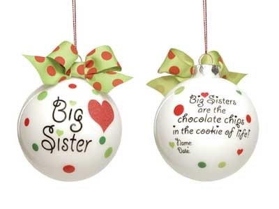 An ornament for the proud big sister when the new baby gets the