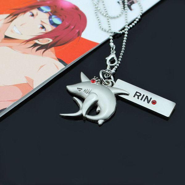 Iwatobi Swim Club Rin Shark Crown Necklace Pendant - OtakuForest.com