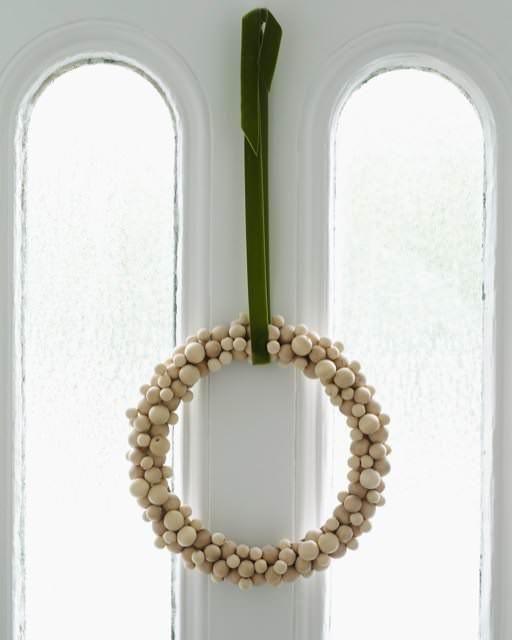 Wooden Bead Wreath