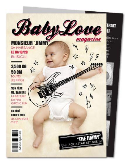 Faire part naissance Magazine rock (PRV-100)