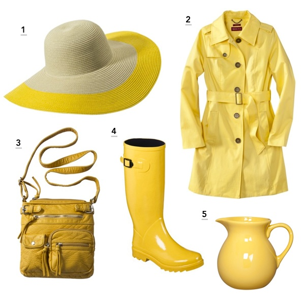 Color is in SeasonShops Target, Rain Boots, Yellow Rainy, Merona Trench, Seasons Target, Feelings Pretty, Spring 2012, Bright Yellow, Rainy Days