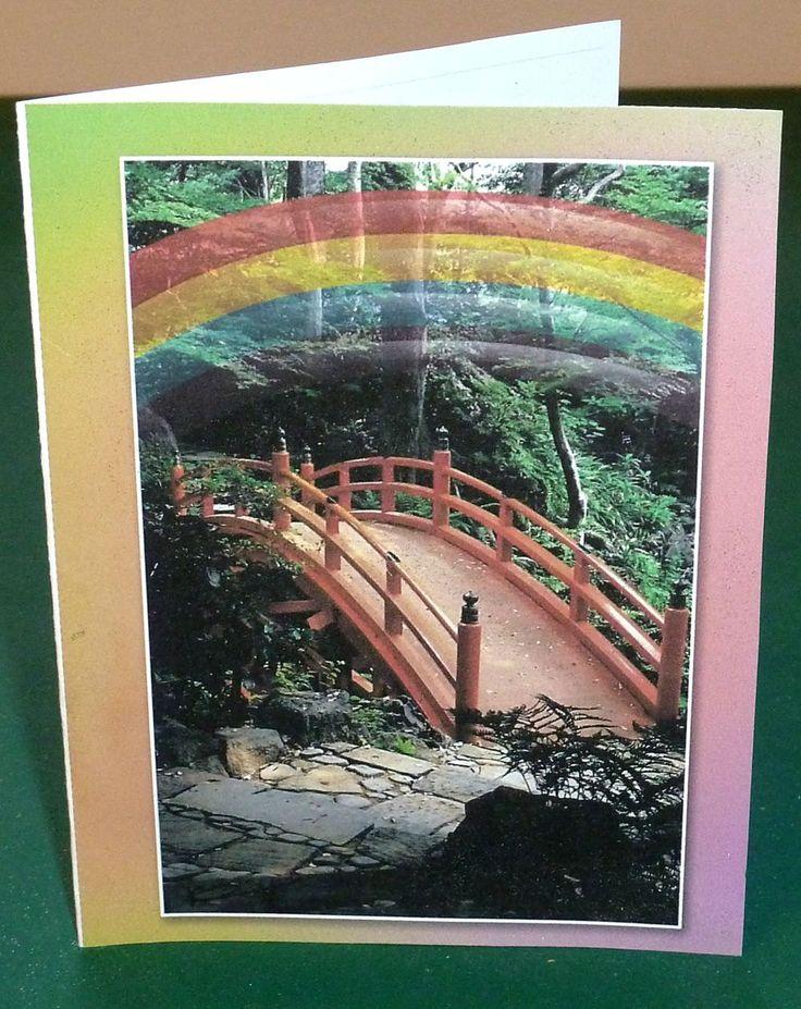 Female Pet Sympathy Card - Rainbow Bridge by SouthamptonCreations on Etsy