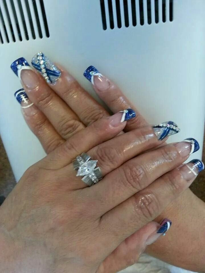 Nails dallas beautify themselves with sweet nails nails on pinterest dallas cowboys nails dallas cowboys and fun nail prinsesfo Image collections