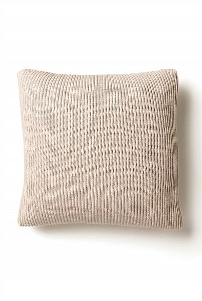 Knitted Two Tone Rib Cushion