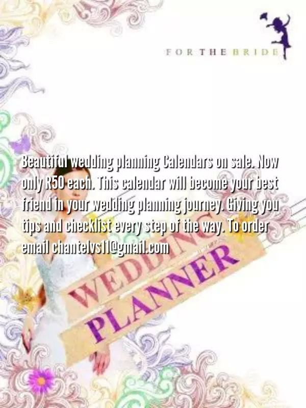 Wedding planner calendar- provided bride with step by step guidelines, checklists and tips