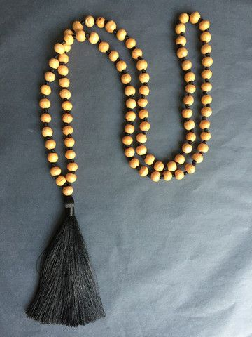 Available online: Our handmade BALI SILK TASSEL NECKLACE (Colour: Pure Black)