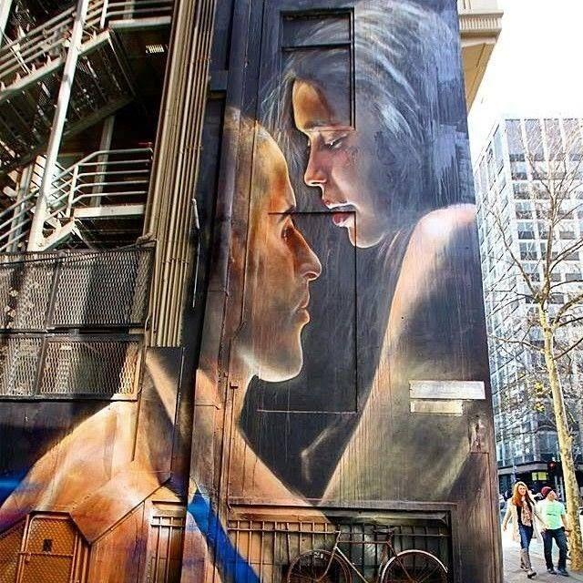 By Matt Adnate and Vincent Fantauzzo – Fantastic Street Art piece in Melbourne, Australia