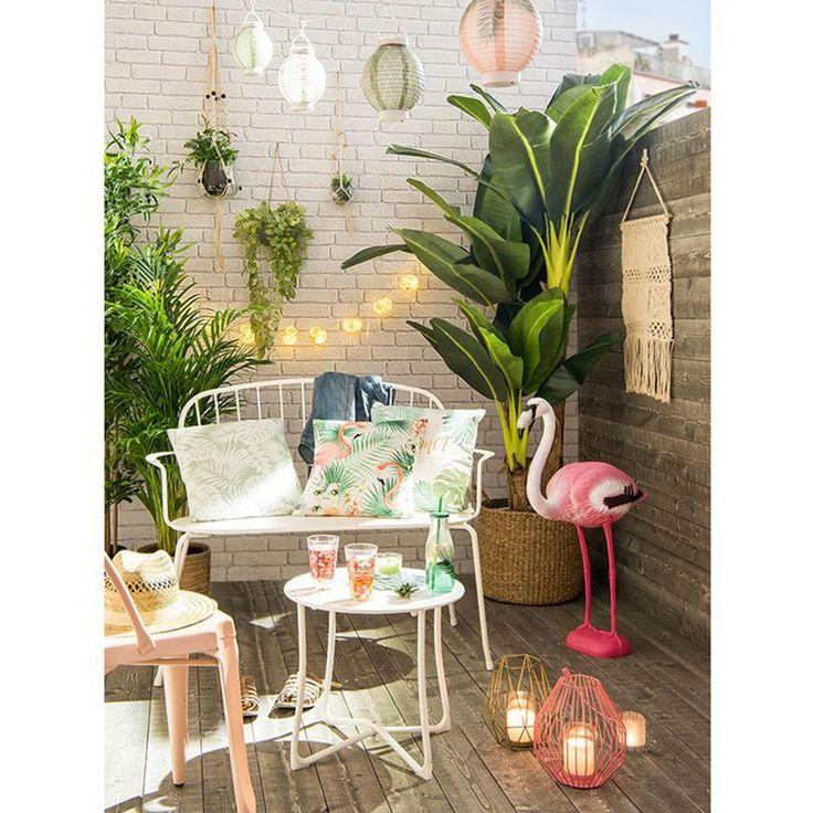 Balcon tropical plantes deco deco pinterest balcons for Deco sejour tropical