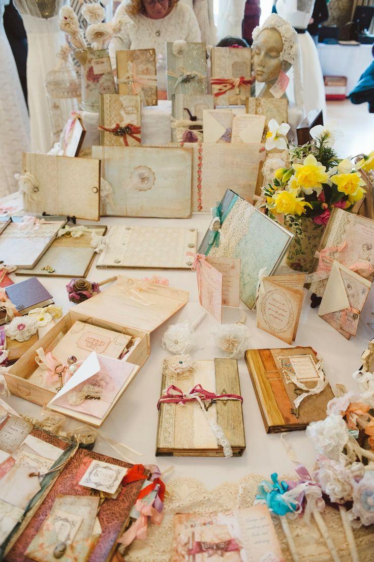 Vintage wedding scrapbook ideas - Unique Scrapbooks Bristol Vintage Wedding Fair