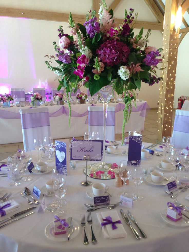 Fuschia violet table name cards www.fuschiadesigns.co.uk