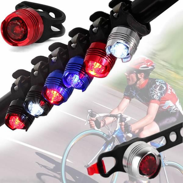 2 modes bike bicycle safety warning rear flashing tail light with silicone band sports. Black Bedroom Furniture Sets. Home Design Ideas