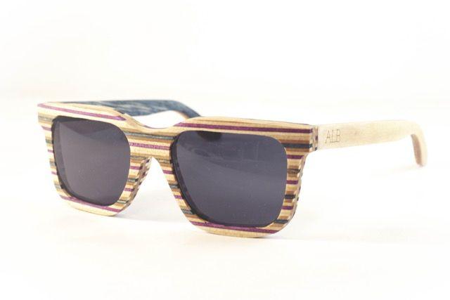 Atelier La Bûche - Paire n°3 #skatesunglasses #Wood #Sunglasses #Bois #lunettes #design #Nantes