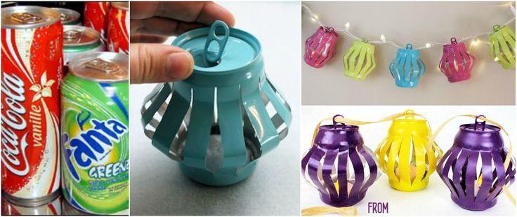 Tutorial para hacer linternas chinas con latas recicladas