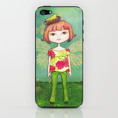 Spring fairy iPhone & iPod Skin by Stina Glaas - $15.00