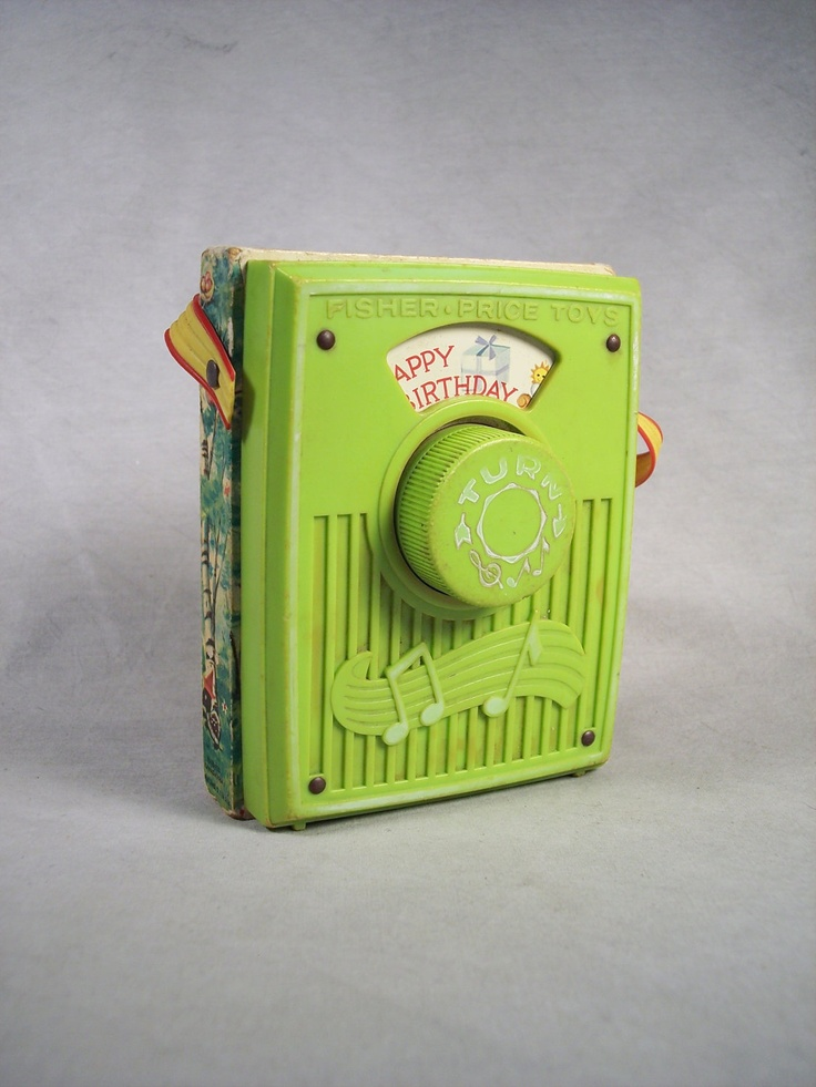 Popular 1970s Toys : Fisher price music box pocket radio happy birthday