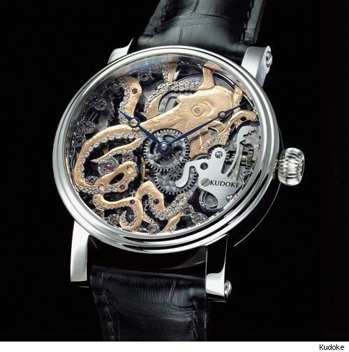 Beautiful Octopus Watch: Time Pieces, Skeletons Watches, Octopuses Watches, Style, Kudok Kudoktopus, Kudoktopus Kraken, Jewelry, Steampunk, Kraken Watches