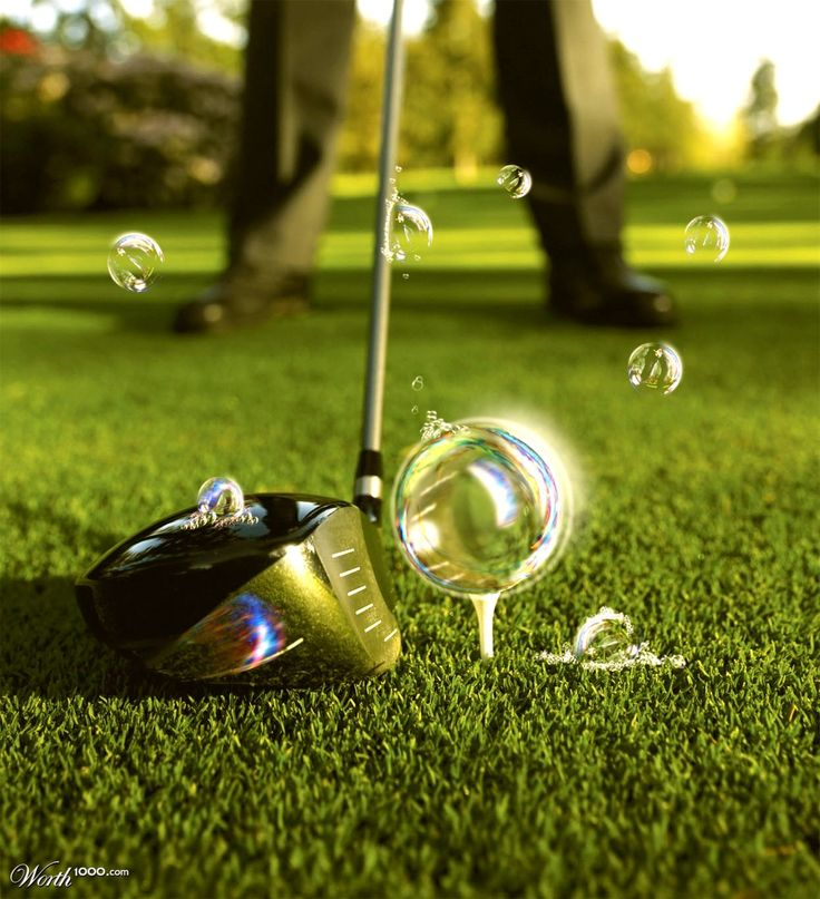 Teeing off with bubbles - the gentle touch!    http://www.centroreservas.com/