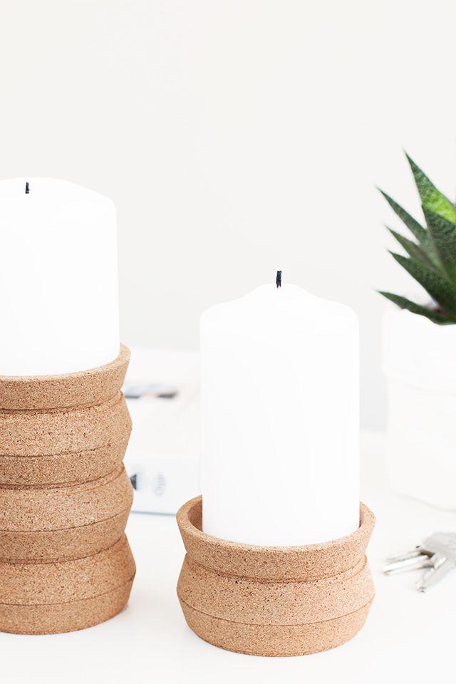 DIY Coaster turned candle holder