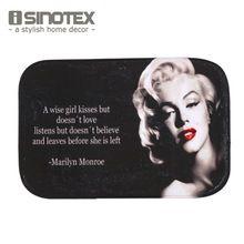 Tapete de Banho Tapete da Sala 40x60 cm/15.6x23.6 ''Marilyn Monroe Tapete Capacho Não-derrapante Para Porta Do Quarto Tapete 1 Pçs/lote(China (Mainland))