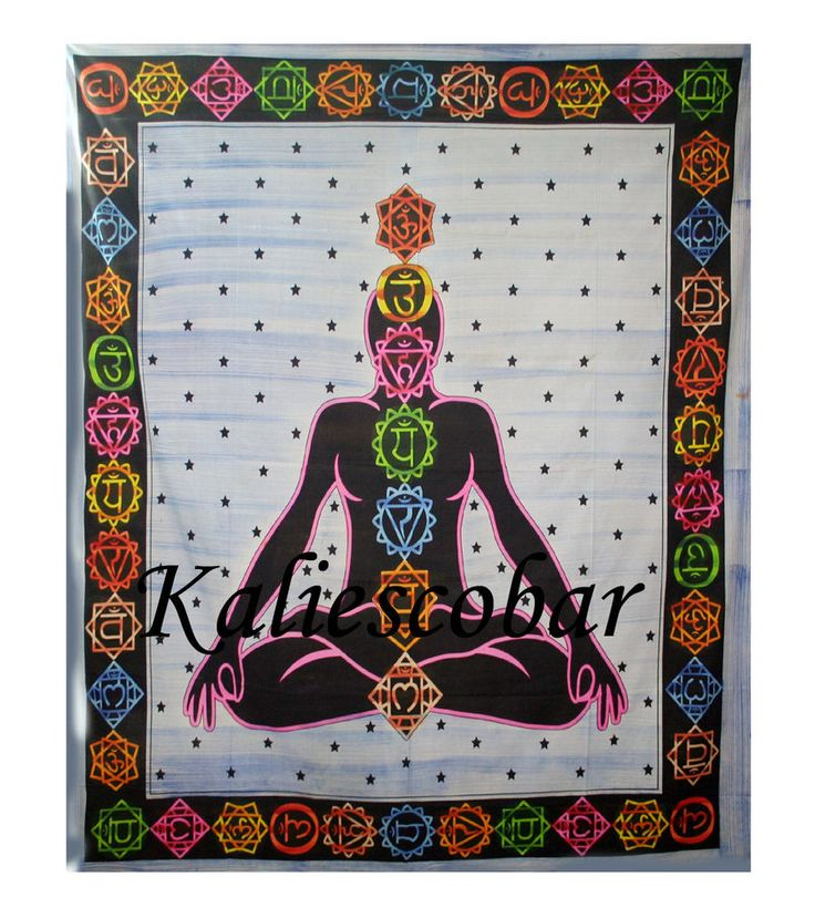 Meditation Yoga Chakra Indian Bed Cover Hippie Bedding Bohemia Bed Sheet Decor #Kaliescobar #ArtDecoStyle