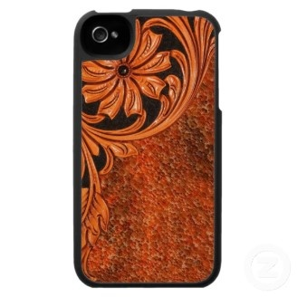 Tooled leather phone case!