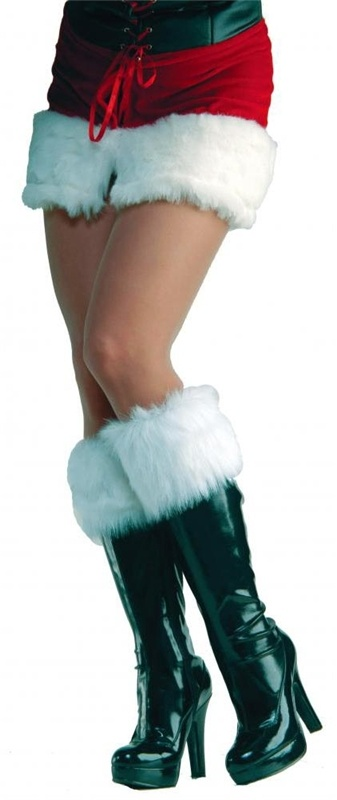 Fur Boot Cuffs These would go great with my Biker Santa outfit